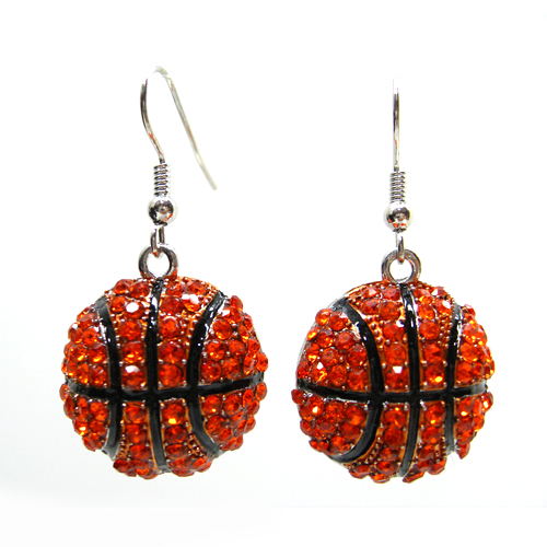 Basketball Dangle Earring