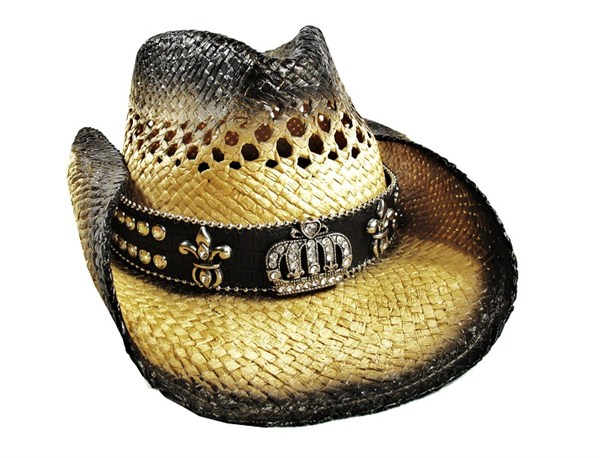 Crown Rhinestone Cowboy Hat