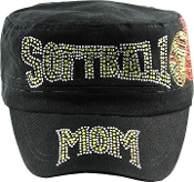Softball Mom w/ Flames Hat