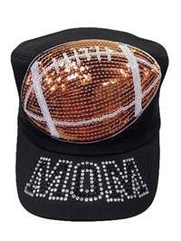 Foot Ball Mom Sequence patch hat
