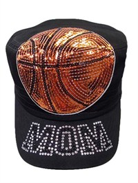 Basketball Mom Shiny Sequence Patch Hat