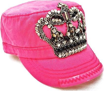 Bling Crown Cadet - Hot Pink by Olive & Pique