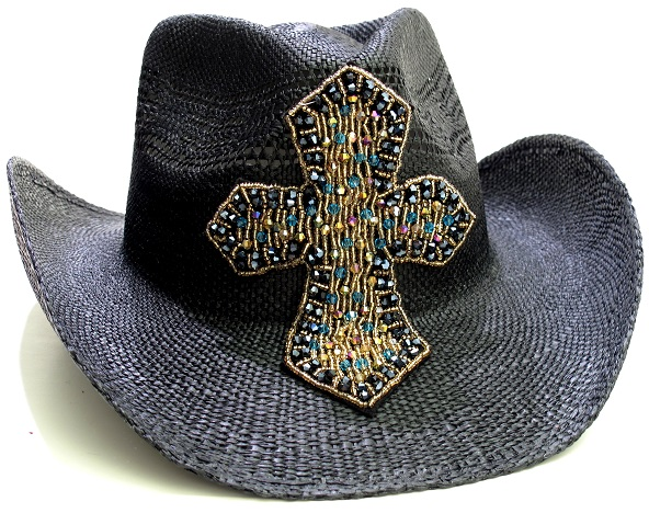 Multi-Colored Cross Cowboy Hat