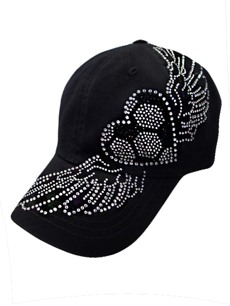 Soccer w/Wings Baseball Style Hat