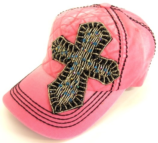 Multicolored Cross Cap with Quilted Front by Olive & Pique