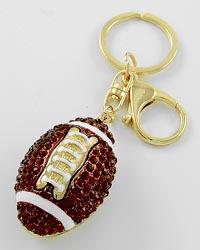 Rhinestone Football Key Chain