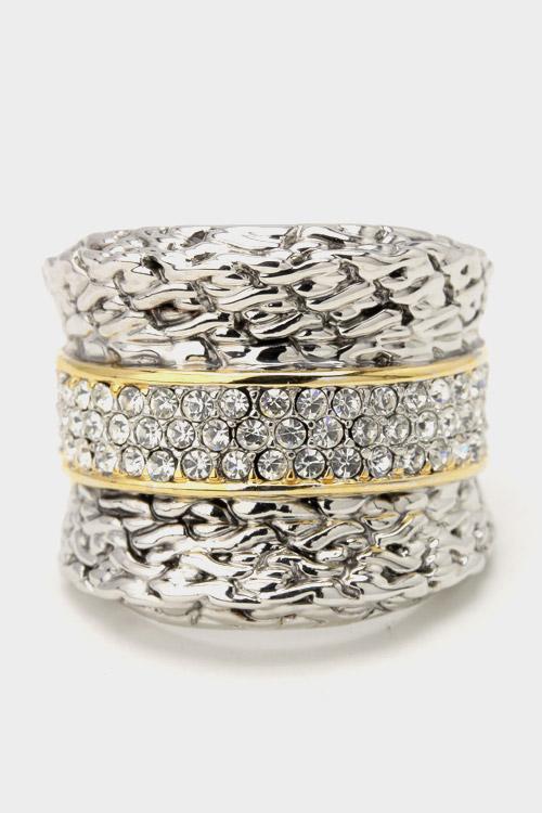 Crystal Stripe Ring
