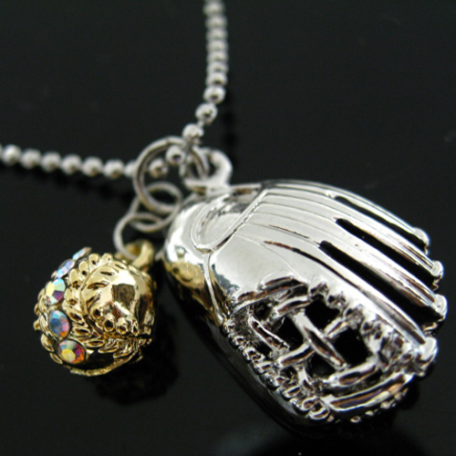 Baseball & Glove Pendent Neclace