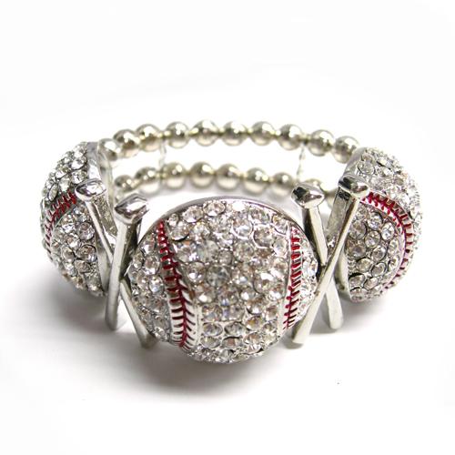 Baseball Stretch Bracelet