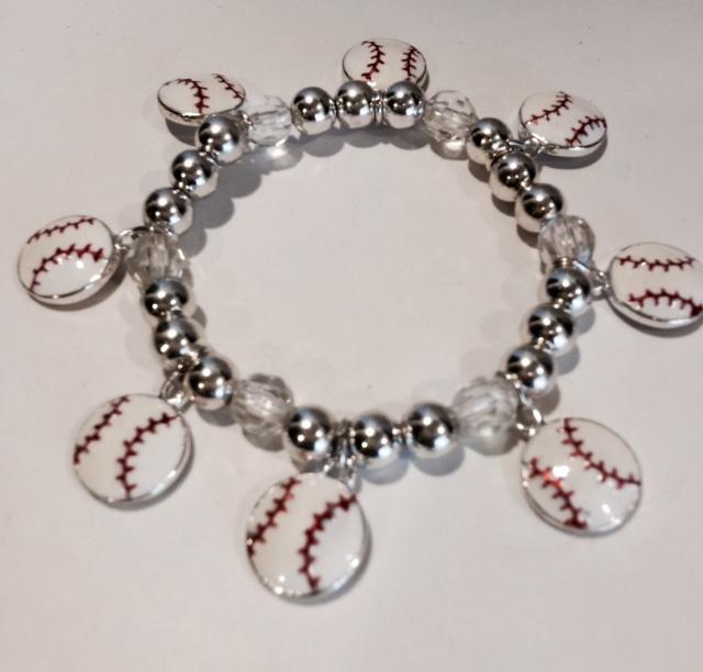 Baseball Stretch Charm Bracelet