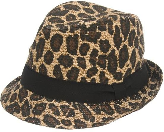 Leopard Straw Fedora