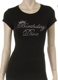Birthday Diva Rhinestone Shirt