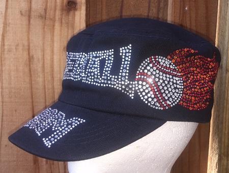 Baseball Mom w/Flames Cadet Hat