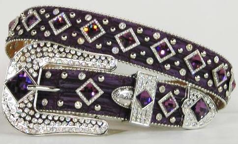 Purple Rhinestone Belt