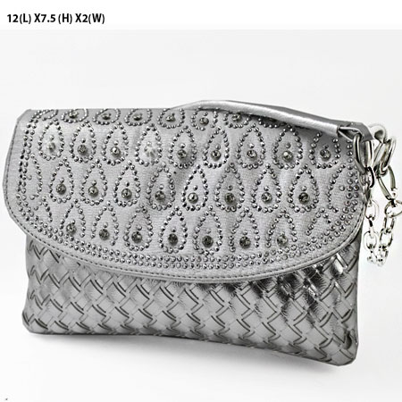 Silver & Sequins Evening Bag