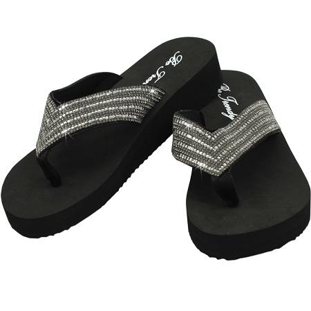 Rhinestone Flip Flop by Be Trendy