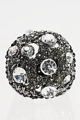 Crystal Stretch Ring - Hematite