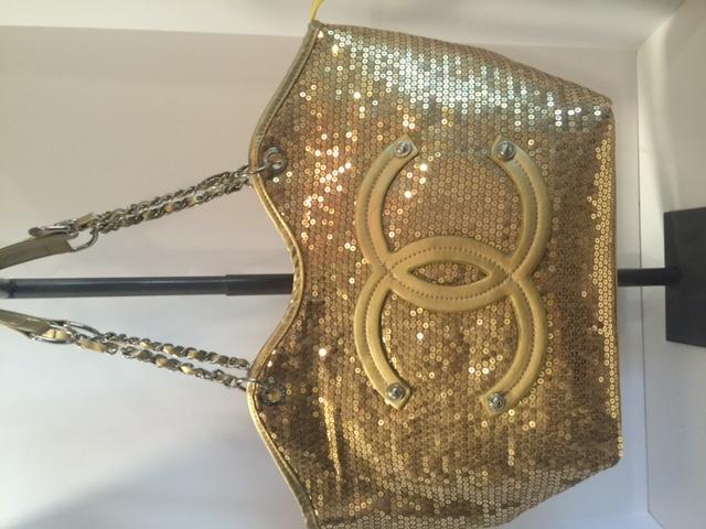 Gold Stunning Sequin Large Handbag