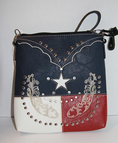 Texas Lone Star Western Crossbody/Messenger Bag
