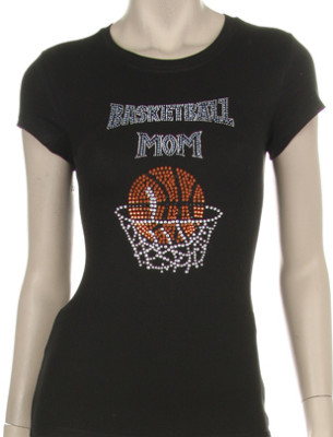 BASKET BALL MOM RHINESTONE DESIGN