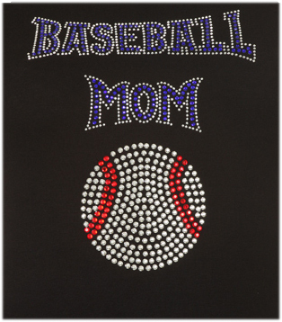 BASEBALL MOM RHINESTONE DESIGN Short Sleeve Shirt