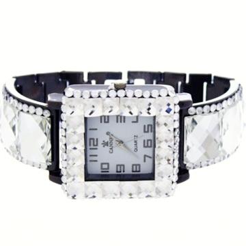 Crystal Link Watch-Hematite/Clear