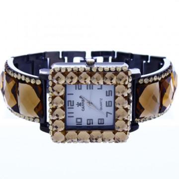 Crystal Link Watch-Hematite/Topaz