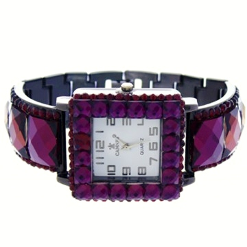 Crystal Link Watch-Hematite/Amethyst