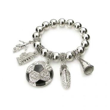 SOCCER BALL EPOXY CHARM Bracelet