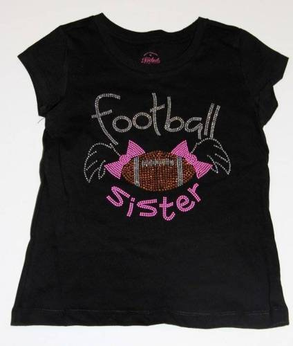 Rhinestone Youth Football Sister S/S Top