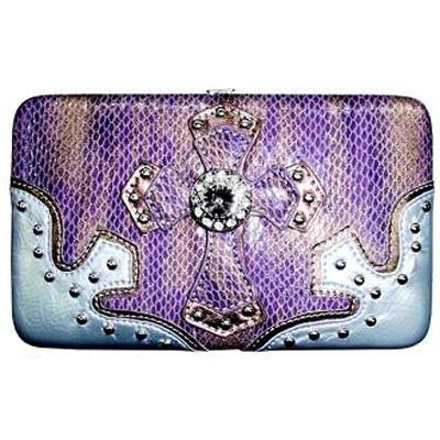 Purple Two-Tones Cross Wallett