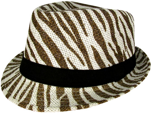 Brown Zebra Fedora