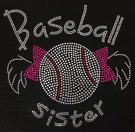 Baseball Sister Rhinestone Transfer