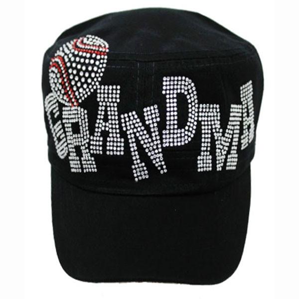 Baseball Grandma Rhinestone Cadet Hat