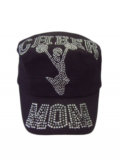 Cheer Mom Cadet Style Rhinestone Hat