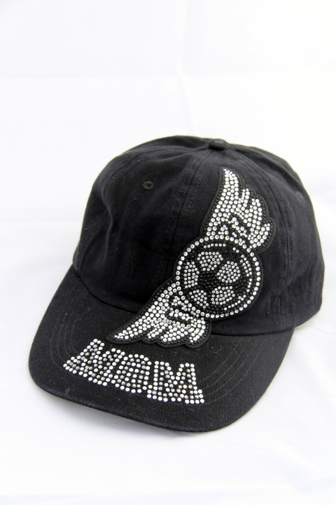 Rhinestone Soccer Mom w/Wings Baseball Style Cap