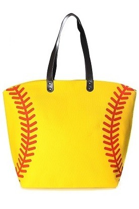 Game Day Softball Theme Tote