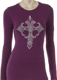 Rhinestone Cross L/S Shirt