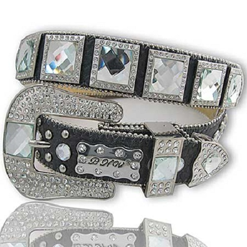 Western Rhinestone Leather Belt
