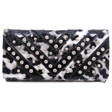 Leopard Rhinestone Wallet