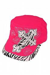 Embellished Glam Zebra Cross Cadet - Hot Pink