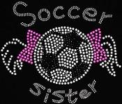 Soccer Sister Rhinestone Transfer