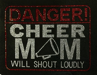 Danger Cheer Mom Rhinestone Transfer