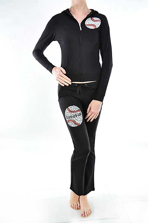 Baseball Mom Sweatshirt/Sweat Pants Set