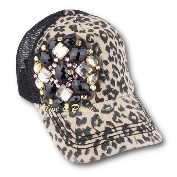 Abstract Multi Gem Bling Trucker Hat by Olive   Pique 95847442692