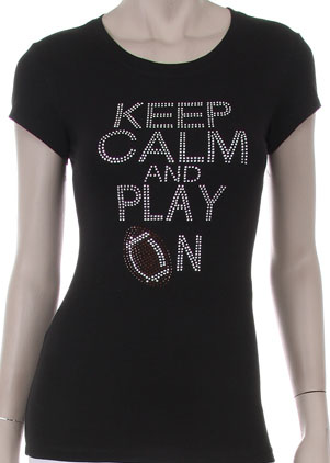 Keep Calm and Play On Football Shirt