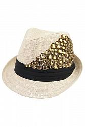 Abstract Gem Bling Deco Fedora