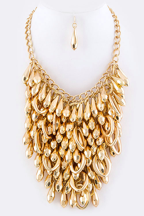 Mix Drop Statement Necklace Set