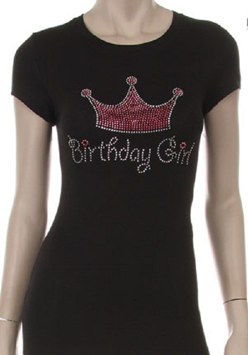 Birthday Girl w/Crown Short Sleeve Top