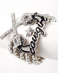 Cowgirl Texas Theme Revolver Bracelet